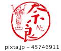 奈良 筆文字 45746911