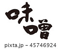 味噌 筆文字 習字のイラスト 45746924