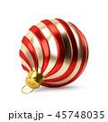 クリスマス 玉 赤のイラスト 45748035