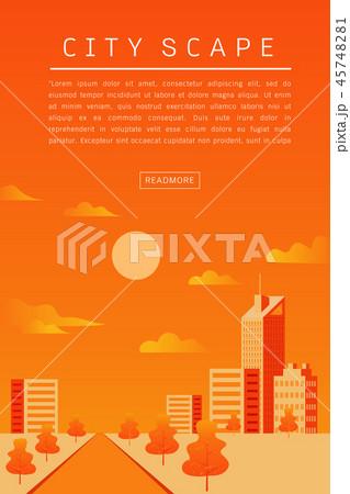 Cityscape Vector Flat illustration 45748281