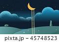 ハシゴ はしご 梯子のイラスト 45748523