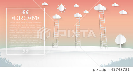 ladders with clouds Vector illustration 45748781