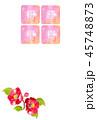 年賀状 椿 花のイラスト 45748873