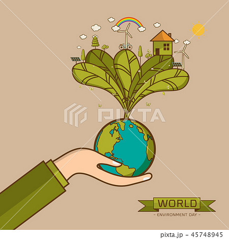 World Environment Day Vector illustration 45748945