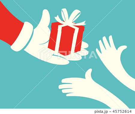 Santa Giving Gift box 45752614