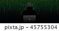 サイバー コンピュータ コンピューターのイラスト 45755304
