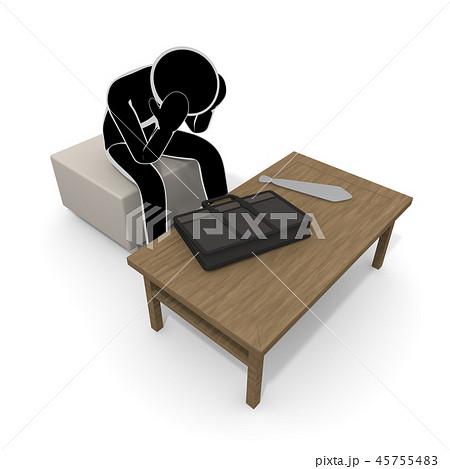会社をクビになる / 解雇される人 / 仕事がなくなる 45755483