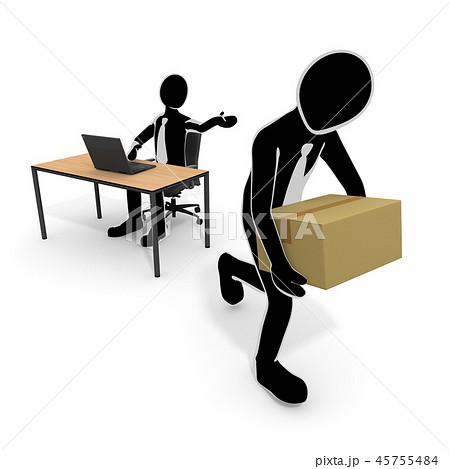 会社をクビになる / 解雇される人 / 仕事がなくなる 45755484