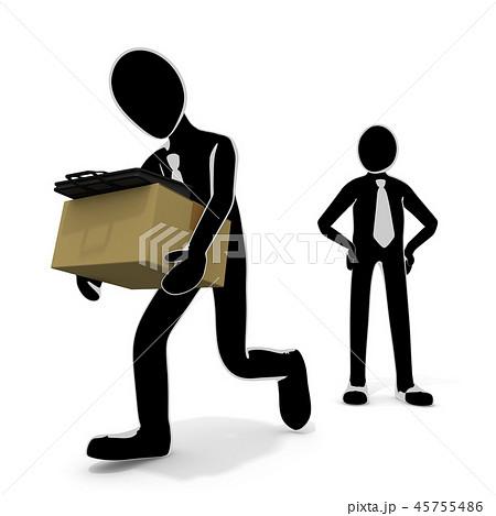 会社をクビになる / 解雇される人 / 仕事がなくなる 45755486