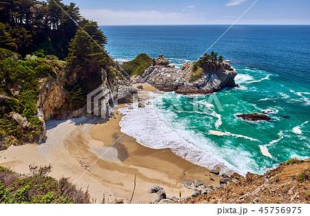 USA Pacific coast beach landscape, California 45756975