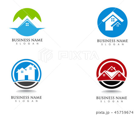 Simple Home Logo Template 45759674