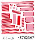 赤 パッチワーク生地 ラベルのイラスト 45762397