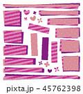 紫 パッチワーク生地 ラベルのイラスト 45762398