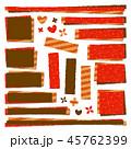赤 茶色 パッチワーク生地のイラスト 45762399