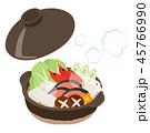 鍋料理 鍋 食べ物のイラスト 45766990