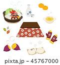 こたつと冬の暖かい食べ物 45767000