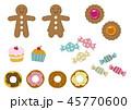 ジンジャーブレッド ジンジャーブレッドマン クッキーのイラスト 45770600