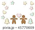 ジンジャーブレッド クッキー クリスマスのイラスト 45770609