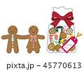 ジンジャーブレッド クッキー クリスマスのイラスト 45770613