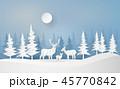 ゆき スノー 雪のイラスト 45770842