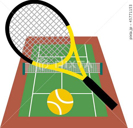 テニスコートのイラスト素材 45771153 Pixta