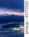 「岩手県」高清水展望台から雲海と夜明け 45773582
