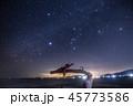 「宮城県」気仙沼の龍の松と冬の星座 45773586