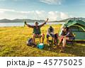 キャンプ テント テント設営の写真 45775025