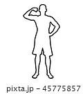 男 男性 エクササイズのイラスト 45775857