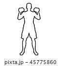 男性 エクササイズ 運動のイラスト 45775860