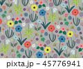 花 模様 花柄のイラスト 45776941