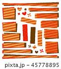 パッチワーク生地 ラベル フレームのイラスト 45778895