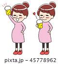 ベクター 妊娠 妊婦のイラスト 45778962