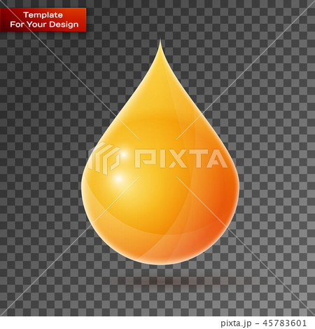 Oil drop On transparent Background 45783601