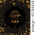クリスマス 金 黄金のイラスト 45784838