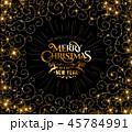 クリスマス 金 黄金のイラスト 45784991