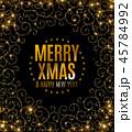 クリスマス 金 黄金のイラスト 45784992