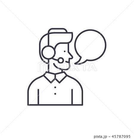 Operator line icon concept. Operator vector linear illustration, symbol, sign 45787095