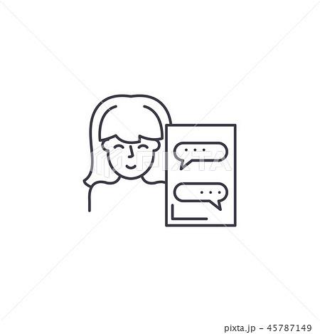 Online assistant line icon concept. Online assistant vector linear illustration, symbol, sign 45787149