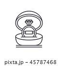 アイコン 指輪 ダイアモンドのイラスト 45787468