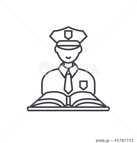Criminal law line icon concept. Criminal law vector linear illustration, symbol, sign 45787755