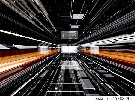 IT テクノロジーイメージ 黒 45788596