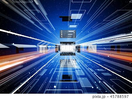 IT テクノロジーイメージ 青 45788597