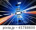 IT テクノロジーイメージ 少し斜め 青 45788600