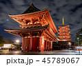 浅草寺 夜景 宝蔵門の写真 45789067
