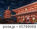 浅草寺 夜景 宝蔵門の写真 45789068