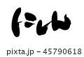 にしん 筆文字 白バックのイラスト 45790618