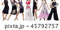 貼り絵 ダンサー 女性の写真 45792757