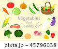 食材 野菜 肉 魚 イラスト 45796038