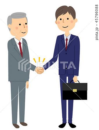 ビジネスマン 握手 45796088